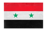 Syria Flag Design with Wood Patterning - Flags of the World Series Prints by Philippe Hugonnard