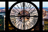 Giant Clock Window - View of Central Park V Photographic Print by Philippe Hugonnard