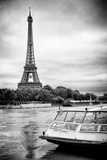Paris sur Seine Collection - BB Boat Photographic Print by Philippe Hugonnard