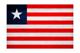 Liberia Flag Design with Wood Patterning - Flags of the World Series Prints by Philippe Hugonnard