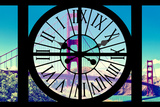 Giant Clock Window - View of the Golden Gate Bridge - San Francisco IV Photographic Print by Philippe Hugonnard