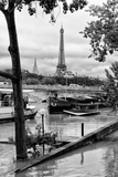 Paris sur Seine Collection - Barges on the Seine Photographic Print by Philippe Hugonnard