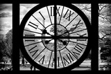 Giant Clock Window - View of the Jardin des Tuileries in Paris Photographic Print by Philippe Hugonnard