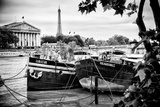 Paris sur Seine Collection - Seine Boats IV Photographic Print by Philippe Hugonnard