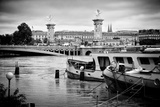 Paris sur Seine Collection - Crossing the Seine Photographic Print by Philippe Hugonnard