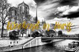 Paris Fashion Series - Weekend in Paris - Notre Dame Cathedral Photographic Print by Philippe Hugonnard