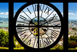 Giant Clock Window - View of the San Francisco City Photographic Print by Philippe Hugonnard