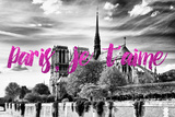 Paris Fashion Series - Paris, je t'aime - Notre Dame Cathedral III Photographic Print by Philippe Hugonnard