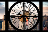 Giant Clock Window - View on the New York City - Chrysler Building Photographic Print by Philippe Hugonnard