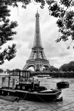 Paris sur Seine Collection - Eiffel Boat VI Photographic Print by Philippe Hugonnard