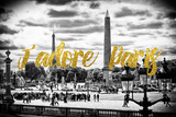 Paris Fashion Series - J'adore Paris - Place de la Concorde Photographic Print by Philippe Hugonnard
