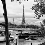 Paris sur Seine Collection - Barges on the Seine III Photographic Print by Philippe Hugonnard