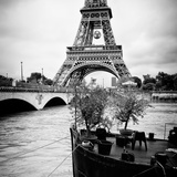 Paris sur Seine Collection - Destination Eiffel Tower II Photographic Print by Philippe Hugonnard