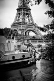 Paris sur Seine Collection - Paris Boat Photographic Print by Philippe Hugonnard
