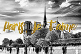 Paris Fashion Series - Paris, je t'aime - Notre Dame Cathedral Photographic Print by Philippe Hugonnard