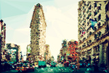 Low Poly New York Art - The Flatiron Building III Prints by Philippe Hugonnard