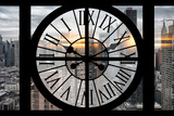 Giant Clock Window - View on Manhattan - New York City Photographic Print by Philippe Hugonnard