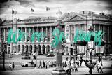 Paris Fashion Series - We're So Paris - Place de la Concorde IV Photographic Print by Philippe Hugonnard