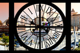 Giant Clock Window - View on the New York City - Car Wash Photographic Print by Philippe Hugonnard