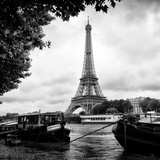 Paris sur Seine Collection - The Eiffel Tower and the Quays I Photographic Print by Philippe Hugonnard