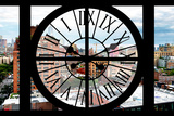 Giant Clock Window - View on Lower Manhattan - New York City II Photographic Print by Philippe Hugonnard