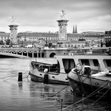 Paris sur Seine Collection - Crossing the Seine III Photographic Print by Philippe Hugonnard