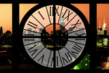 Giant Clock Window - View on the New York Skyline at Dusk III Photographic Print by Philippe Hugonnard