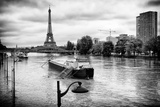 Paris sur Seine Collection - Floating Barge Photographic Print by Philippe Hugonnard