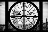 Giant Clock Window - View of the Alexandre III Bridge - Paris Photographic Print by Philippe Hugonnard