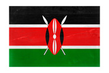Kenya Flag Design with Wood Patterning - Flags of the World Series Prints by Philippe Hugonnard