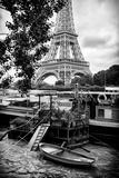 Paris sur Seine Collection - Eiffel Boat Photographic Print by Philippe Hugonnard