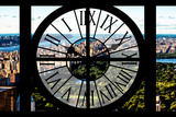 Giant Clock Window - View of Central Park Photographic Print by Philippe Hugonnard