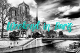 Paris Fashion Series - Weekend in Paris - Notre Dame Cathedral IV Photographic Print by Philippe Hugonnard