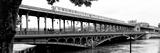 Paris sur Seine Collection - Metro Bridge III Reproduction photographique par Philippe Hugonnard