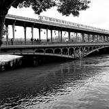 Paris sur Seine Collection - Metro Bridge II Photographic Print by Philippe Hugonnard