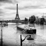 Paris sur Seine Collection - Floating Barge II Photographic Print by Philippe Hugonnard