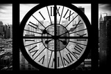 Giant Clock Window - View on Manhattan Photographic Print by Philippe Hugonnard