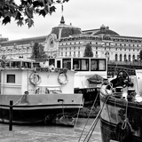 Paris sur Seine Collection - Boats before the Musee d'Orsay V Photographic Print by Philippe Hugonnard