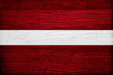 Latvia Flag Design with Wood Patterning - Flags of the World Series Posters by Philippe Hugonnard
