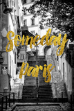 Paris Fashion Series - Someday Paris - Stais of Montmartre Photographic Print by Philippe Hugonnard