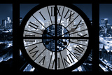 Giant Clock Window - View on the New York City - Blue Night Photographic Print by Philippe Hugonnard
