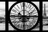 Giant Clock Window - View of the Pont Alexandre III and Eiffel Tower in Paris Photographic Print by Philippe Hugonnard