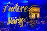 Paris Fashion Series - J'adore Paris - Arc de Triomphe by Night Photographic Print by Philippe Hugonnard