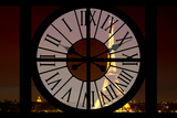 Giant Clock Window - View of the Eiffel Tower by Night - Paris VI Photographic Print by Philippe Hugonnard