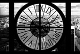Giant Clock Window - View on the New York City - B&W Central Park Photographic Print by Philippe Hugonnard