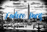 Paris Fashion Series - J'adore Paris - Place de la Concorde III Photographic Print by Philippe Hugonnard