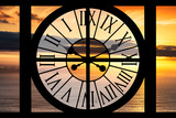 Giant Clock Window - View of a Sunset Photographic Print by Philippe Hugonnard