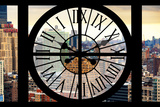 Giant Clock Window - View on the Garmen District - New York City Photographic Print by Philippe Hugonnard