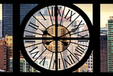 Giant Clock Window - View on the New Yorker Hotel Photographic Print by Philippe Hugonnard