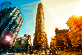 Low Poly New York Art - The Flatiron Building II Print by Philippe Hugonnard